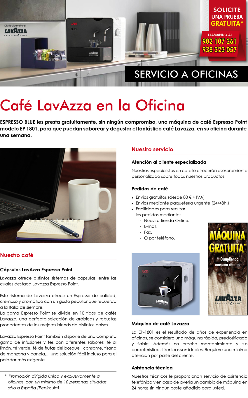 Espressoblue - Servicio a Oficinas