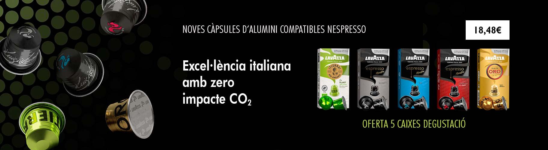 Noves càpsules d'alumini Nespresso