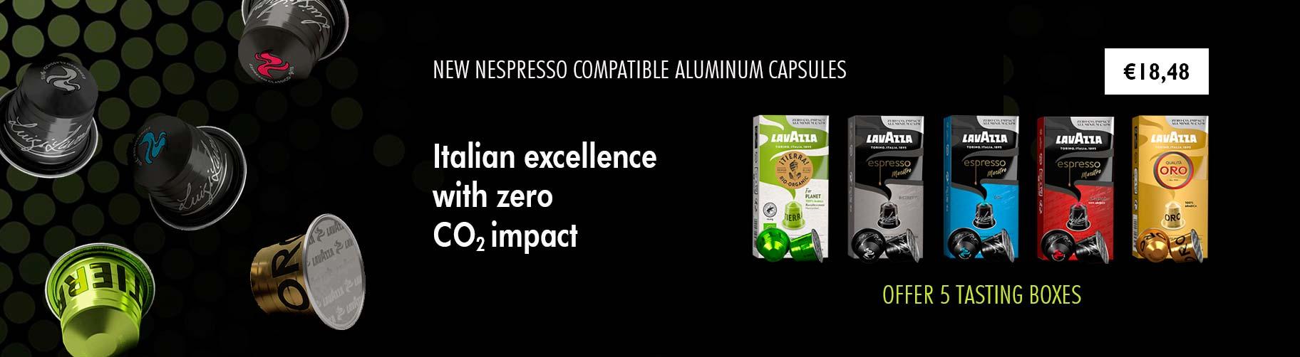 new nespresso aluminum capsules